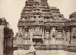 Hurulhullee. A temple. [Sculptured facade of the Lakshmi Narasimha Temple, Harnahalli.]